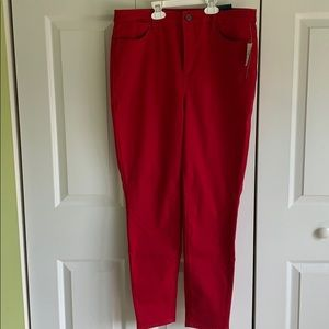 Talbots red jeggings